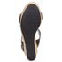Dune Women's Kier Di Leather Wedged Sandals - Black: Image 5