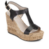 Dune Women's Kier Di Leather Wedged Sandals - Black: Image 2