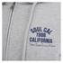 Soul Cal Men's Sleeve Print Logo Zip Through Hoody - Grey Marl: Image 3