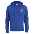 Soul Cal Men's Sleeve Print Logo Zip Through Hoody - Cobalt Blue: Image 1