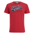 Soul Cal Men's Cracked Print T-Shirt - Ribbon Red: Image 1