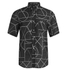 McQ Alexander McQueen Men's Short Sleeve Shields 01 Angle All Shirt - Black Angle: Image 1