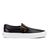Vans Women's Classic Slip-On Metallic Trainers - Black/Gold: Image 1