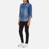 ONLY Women's Denim Shirt - Medium Blue Denim: Image 4