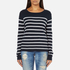 ONLY Women's Mila Stripe Long Sleeve Top - Night Sky: Image 1