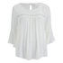 ONLY Women's Theo Lace Top - Cloud Dancer: Image 1