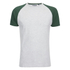 Brave Soul Men's Baptist Raglan Sleeve T-Shirt - Ecru/Bottle Green: Image 1
