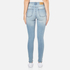 Cheap Monday Women's 'Second Skin' Skinny Fit Jeans - Stonewash Blue: Image 3