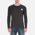 Converse Men's All Star Core Left Chest CP Long Sleeve T-Shirt - Black Heather: Image 1