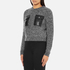 Carven Women's Leather Pocket Front Jumper - Black/White: Image 2