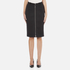 Carven Women's Full Zip Pencil Skirt - Black: Image 1