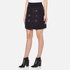 Carven Women's Duffle Button Skirt - Navy: Image 2