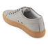 ETQ. Men's Low Top 1 Rubberized Leather Trainers - Alloy/Gum: Image 4