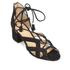 MICHAEL MICHAEL KORS Women's Mirabel Leather Mid Heel Sandals - Black: Image 2