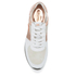 MICHAEL MICHAEL KORS Women's Allie Leather Trainers - White & Rose Gold: Image 3