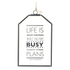 Parlane 'Life Is What Happens' Glass Hanging Sign - Clear (15 x 10cm): Image 1