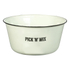 Parlane 'Pick 'n' Mix' Enamel Snack Bowl - Cream (11 x 23cm): Image 1