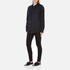 MSGM Women's Logo Back Oversized Denim Shirt - Black: Image 4