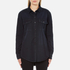 MSGM Women's Logo Back Oversized Denim Shirt - Black: Image 1