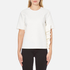 MSGM Women's Side Ruffle Short Sleeve Top - White: Image 1