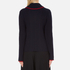 MSGM Women's Ruffle Rollneck Jumper - Navy: Image 3