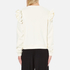MSGM Women's Ripped Effect Frill Sweatshirt - Cream: Image 3