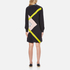 MSGM Women's High Neck Long Sleeve Dress with Contrast Diamond Print - Black: Image 3