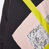 MSGM Women's High Neck Long Sleeve Dress with Contrast Diamond Print - Black: Image 5