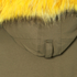 KENZO Women's Removable Yellow Fur Lined Short Parka - Dark Khaki: Image 7
