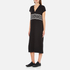 KENZO Women's Stripe Logo Mid Cotton Dress - Black: Image 2