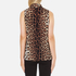 Boutique Moschino Women's Tie Neck Top - Leopard: Image 3