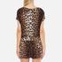 Boutique Moschino Women's Tie Waist Playsuit - Leopard: Image 3