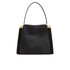 Lulu Guinness Women's Collette Large Leather and Suede Shoulder Bag - Black: Image 1