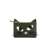 Lulu Guinness Women's Lottie Kooky Cat Pouch - Dark Sage: Image 1