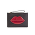 Lulu Guinness Women's Grace Medium Lips Clutch - Black/Red: Image 1