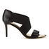 Ted Baker Women's Leniya Leather Elastic Strap Heeled Sandals - Black: Image 1