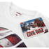 Marvel Men's Captain America Civil War Smoke Shield T-Shirt - White: Image 3