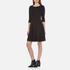 BOSS Orange Women's Dipleat Jersey Dress - Black: Image 2