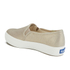 Keds Women's Triple Metallic Deckers Canvas Slip On Trainers - Gold: Image 4