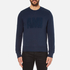 AMI Men's Crew Neck Sweatshirt - Night Blue: Image 1