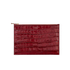 Aspinal of London Women's Essential Large Flat Croc Pouch - Bordeaux Croc: Image 1