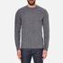 Barbour Heritage Men's Barnard Cable Knitted Jumper - Denim Mix: Image 1
