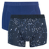 Bjorn Borg Men's Twin Pack Petal Print Boxer Shorts - Total Eclipse: Image 1