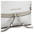 MICHAEL MICHAEL KORS Rhea Zip Small Crossbody Backpack - Silver: Image 4