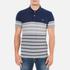 GANT Men's Dropped Stripe Pique Polo Shirt - Persian Blue: Image 1