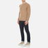 GANT Men's Donegal Crew Neck Knitted Jumper - Dark Sand Melange: Image 4