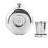 Flask with Collapsible Shot Glass - Silver: Image 1