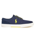 Polo Ralph Lauren Men's Faxon Low Top Trainers - Navy: Image 1