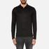 HUGO Men's Delato Long Sleeve Mercerised Polo Shirt - Black: Image 1