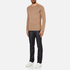 HUGO Men's San Francisco Cotton Silk Cashmere Jumper - Light/Pastel Brown: Image 4